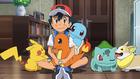 EP1091 Ash junto a varios Pokémon