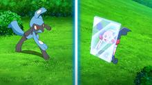 Mr. Mime de Ash usando reflejo.