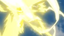 Pikachu de usando rayo.