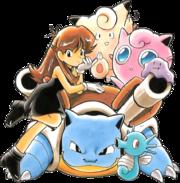 Artwork de Green con sus Pokémon.png