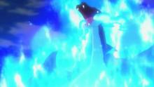 Mega-Charizard X usando anillo ígneo.