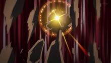 Lycanroc nocturno de Gladion/Gladio usando aplastamiento gigalítico.
