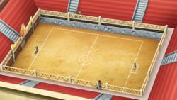 Campo de batalla del Gimnasio de Carmín en el anime