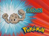 """Geodude en el segmento """"¿Quien es ese pokémon?/¿Cual es ese pokémon?"""""""