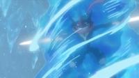 Greninja Ash usando corte.