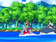 EP560 Alumnos cabalgando con sus Pokémon de tipo agua.png