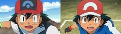 Comparación en los ojos de Ash.