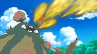Garbodor salvaje usando bomba ácida.