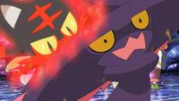 Litten de Ash usando colmillo ígneo.