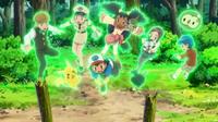 ... Gothita levantando a Pokémon y personas por igual.