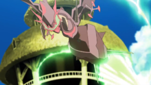 Naganadel usando tijera X