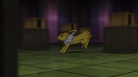 Jolteon usando ataque rápido.
