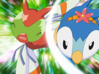 Pippy usando destructor contra Yanma.