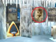 Imagen del gato de Masahiro Sakurai en el escenario.