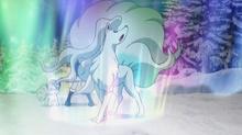 Ninetales usando velo aurora