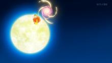 Flabébé usando fuerza lunar.