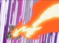 Bastiodon usando lanzallamas.
