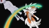 Lycanroc de Ash usando contraataque.