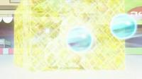 Chikorita usando pantalla de luz.