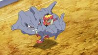 Steelix de Brock usando atadura.