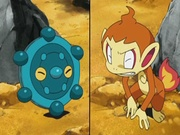 EP577 Chimchar vs Bronzor.jpg