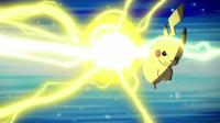 Pikachu usando gigavoltio destructor.
