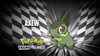 """Axew en el segmento """"¿Quién es ese Pokémon?/¿Cuál es este Pokémon?"""""""
