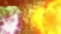 Houndoom de Mable/Melia usando lanzallamas.